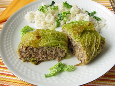 savoy: Savoy stuffed with minced meat