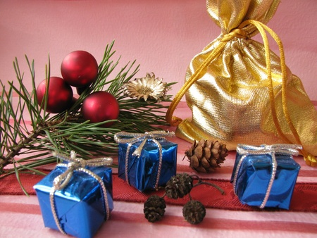 christmassy: Christmassy presents Stock Photo
