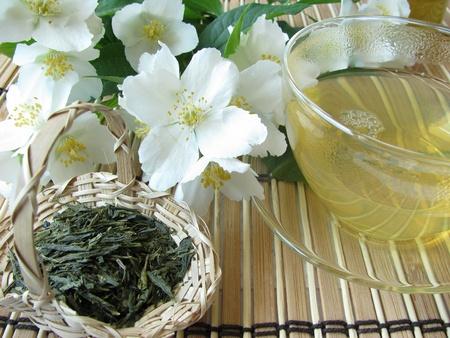 Green tea jasmine Archivio Fotografico