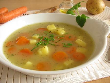 Homemade potato soup Standard-Bild