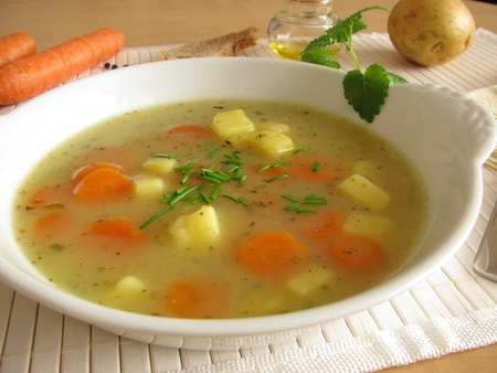 Homemade potato soup Stockfoto