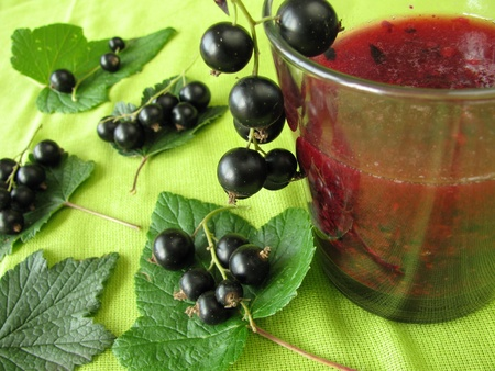 black currants: Smoothie from black currants