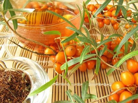 Rooibos thee met vruchten van duindoorn