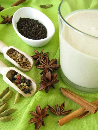 Chai-Lassi of Indian kind Stock Photo