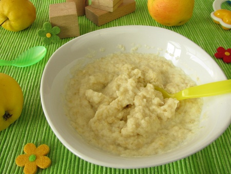 Millet porridge with apple mash for babies and small children Stock Photo - 11241975