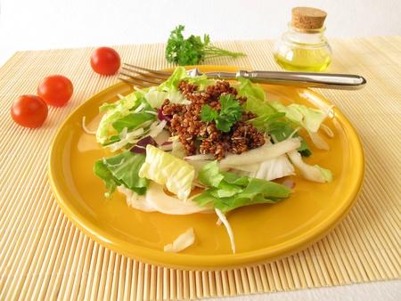 red quinoa: Salad with red quinoa