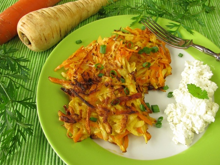 parsnips: Pancakes with carrots and parsnips