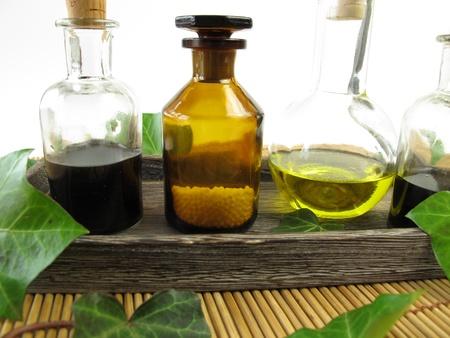 globuli: Ivy in nature healing Stock Photo