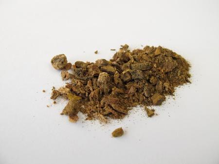 rheum: Medicinal Rhubarbs root, Rhei radix Stock Photo