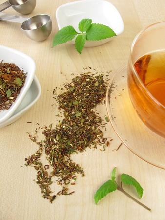 red bush tea: Mate Rooibos tea Stock Photo