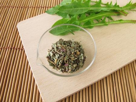 Dandelion root and leaves, Taraxaci radix cum herba
