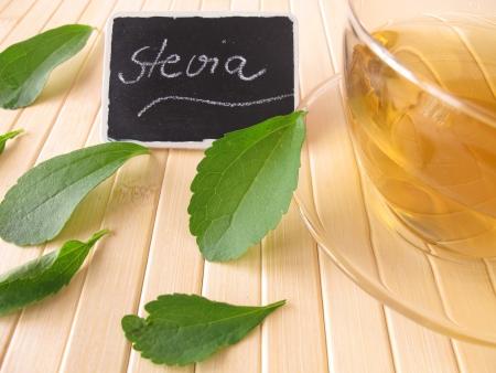 Stevia thee Stockfoto