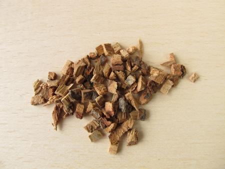 quercus robur: Oak bark, Quercus cortex Stock Photo