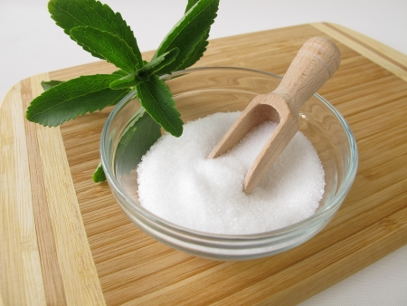 Stevia sugar free crystals Stock Photo - 14169594