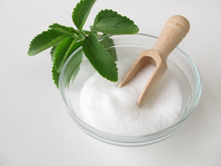 Stevia sugar free crystals  Stock Photo