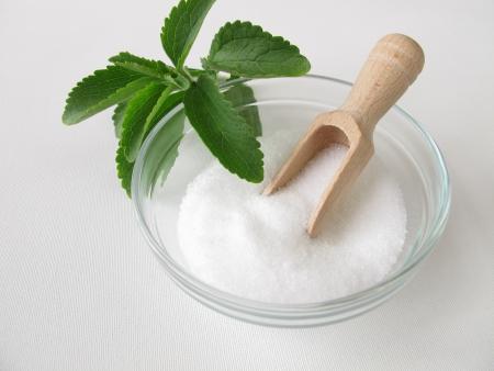 Stevia sugar free crystals  Archivio Fotografico