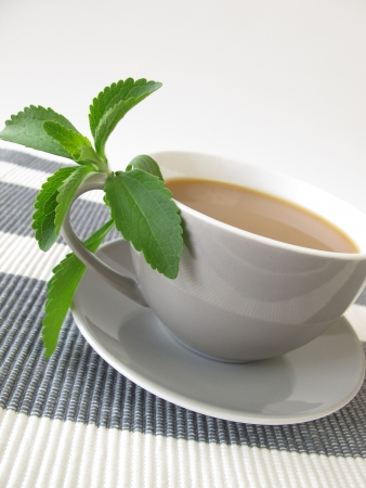 Caf� au lait with stevia photo