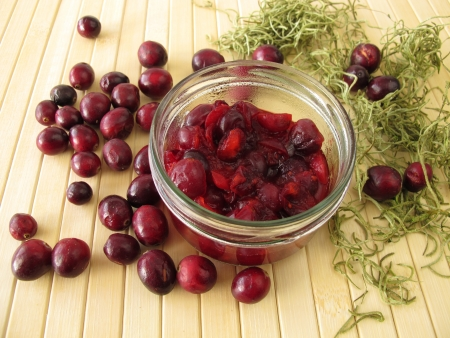 compote: Cranberry compote