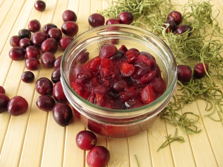 compote: Cranberry compote