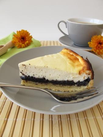 Poppy-seed cheese cake Archivio Fotografico