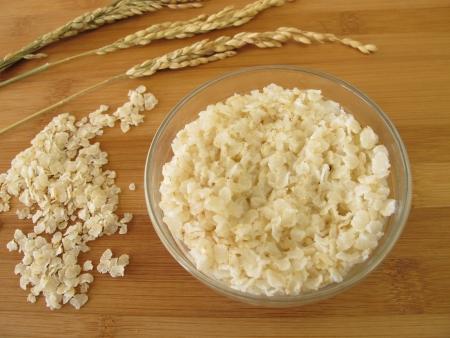 creamed: Creamed rice Stock Photo