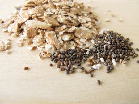 Muesli with chia seeds photo