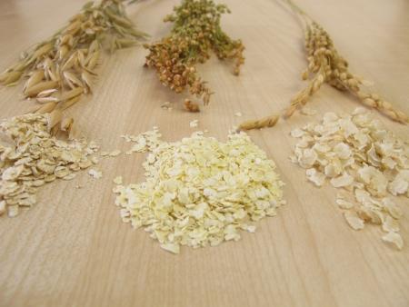 avena en hojuelas: Copos de avena, arroz y mijo laminado laminado