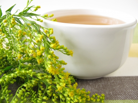 goldenrod: Tea with goldenrod