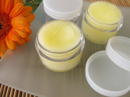 balm: Lip balm with honey Stock Photo