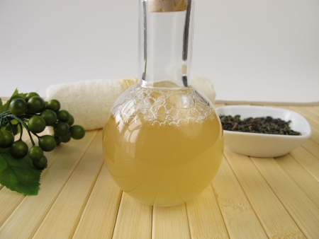 bodywash: Homemade shower gel with green tea and lemon scent