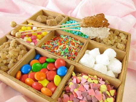 sweetmeats: Wooden box with sweetmeats