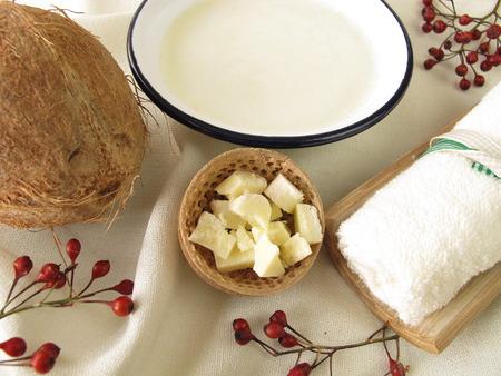 Ontspannen kokosnoot bad