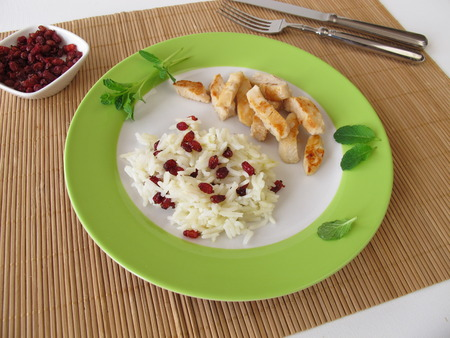 barberry: Barberry rice with chicken Stock Photo
