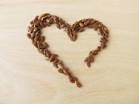 linseed: Heart made of linseed