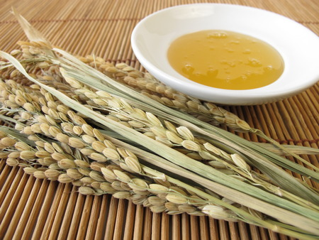 Rice syrup and rice panicles