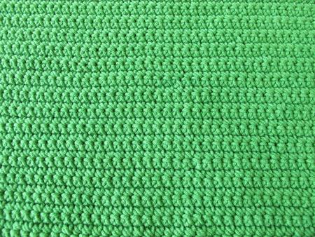 crotchet: Crochet pattern from single crotchet stitch in green