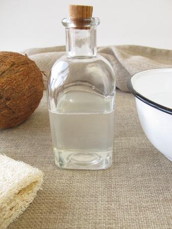 coconut oil: Coconut oil bath