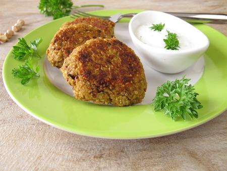 falafel: Falafel burger with herb yogurt