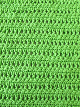Crochet Pattern From Single And Double Crochet Stitch In Limegreen