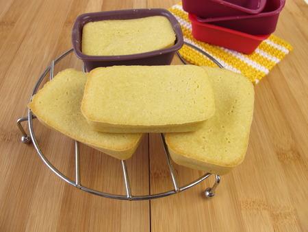 maize flour: Gluten-free mini-breads made from maize flour Stock Photo