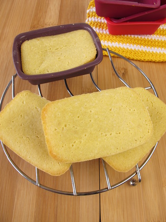 maize flour: Gluten-free mini-breads made from maize flour Stock Photo