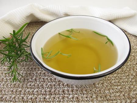 bath additive: Rosemary footbath Stock Photo