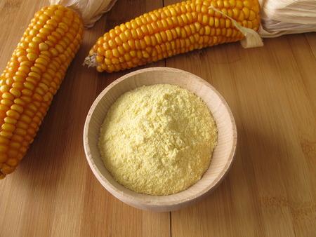 maize flour: Maize flour Stock Photo