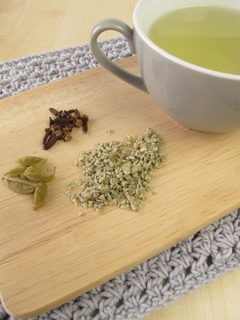 stimulant: Green coffee with cardamom and cloves