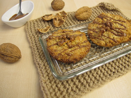 oatmeal cookies: Oatmeal cookies with walnuts and chocolate