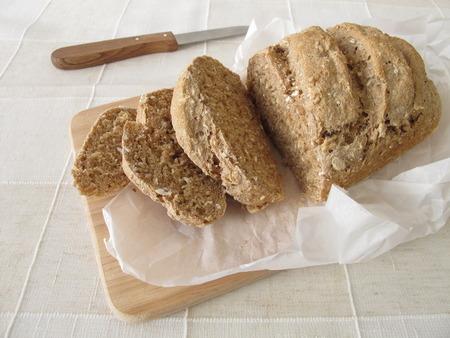 whole grain: Slices of whole grain bread