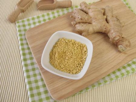 naturopathy: Ginger spice and rhizome Stock Photo