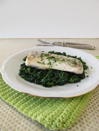 haddock: Haddock with spinach