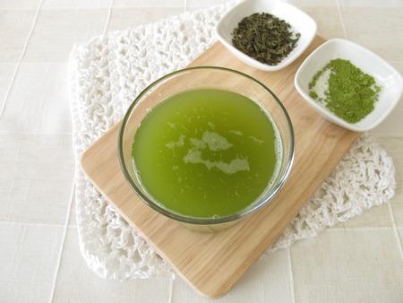 sencha tea: Sencha green tea with matcha