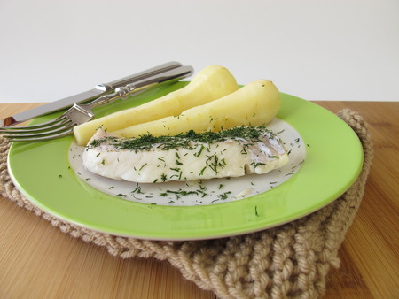 haddock: Haddock and parsnips
